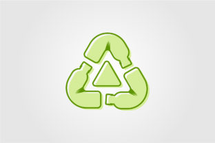 Recycle Plastic Bottle Logo Icon Vector Graphic Objects By lawoel