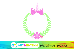 Wreath, Unicorn Wreath Graphic Crafts By artinrhythm