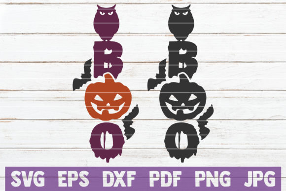 Boo Graphic Crafts By MintyMarshmallows