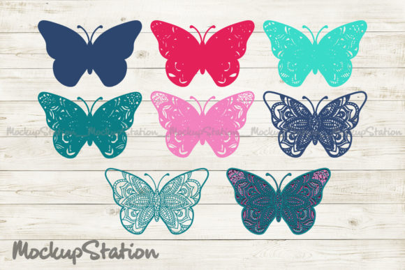 Butterfly 3D Mandala SVG, Layered DXF Graphic Download