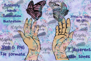 Print on Demand: Butterfly Hands Graphic Illustrations By Susan Alajoki