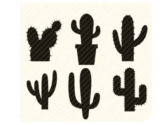 Print on Demand: Cactus Silhouette Bundle Graphic Graphic Crafts By SVGPlaceDesign