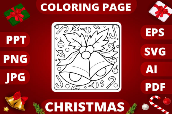 Christmas Coloring Page for Kids #16 Graphic