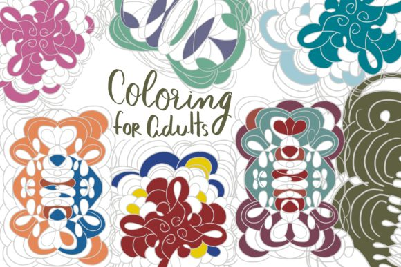 Coloring for Adults Graphic Coloring Pages & Books By Poycl Jazz