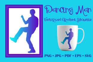 Dancing Man Vectorized Gradient Silhouete Graphic Objects By vessto