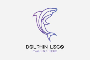 Dolphin Line Logo Graphic Logos By byemalkan