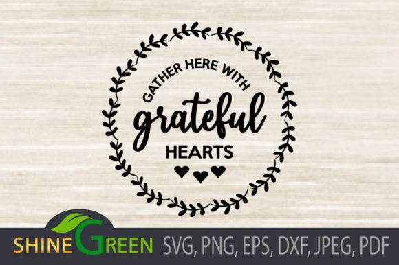 Fall - Gather with Grateful Hearts Sign Graphic Item
