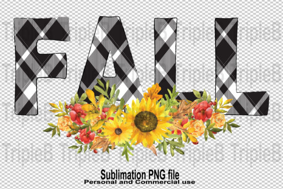 Print on Demand: Fall Plaid Autumn Sublimation Designs Graphic Illustrations By TripleBcraft