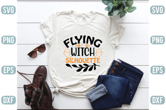 Flying Witch Silhouette Graphic Crafts By creativejasim2