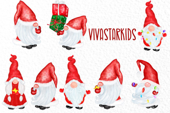 Gnomes Clipart Christmas Clipart Graphic Item
