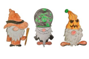 Print on Demand: Gnomes Clipart Halloween with Watercolor Graphic Crafts By Arief Sapta Adjie