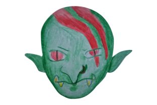 Print on Demand: Halloween Green Goblin with Watercolor Graphic Crafts By Arief Sapta Adjie