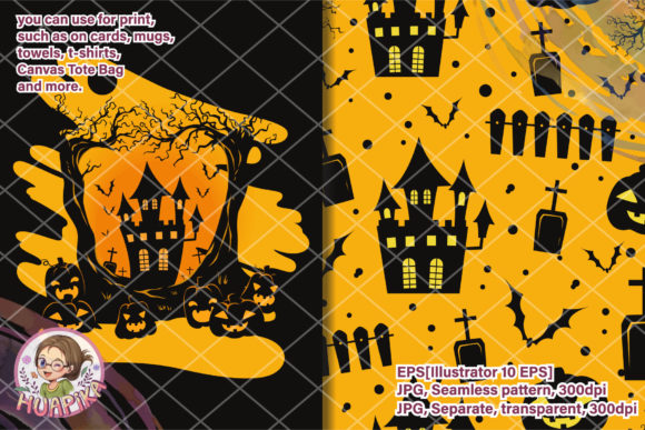 Halloween Festival Silhouette Graphic Illustrations By huapika