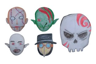 Print on Demand: Halloween Monster Head with Watercolor Graphic Crafts By Arief Sapta Adjie