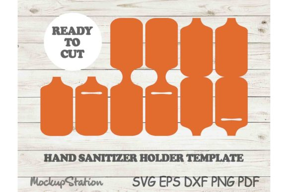 Print on Demand: Hand Sanitizer Holder Template SVG DXF Graphic Crafts By Mockup Station