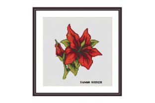 Print on Demand: Lily Cross Stitch Pattern Flower Xstitch Graphic Cross Stitch Patterns By Tango Stitch