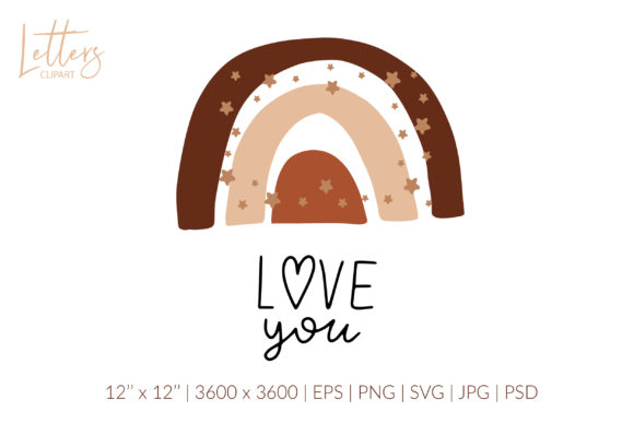 Love You Svg Love Quote Svg. Boho Svg Graphic Illustrations By cyrilliclettering