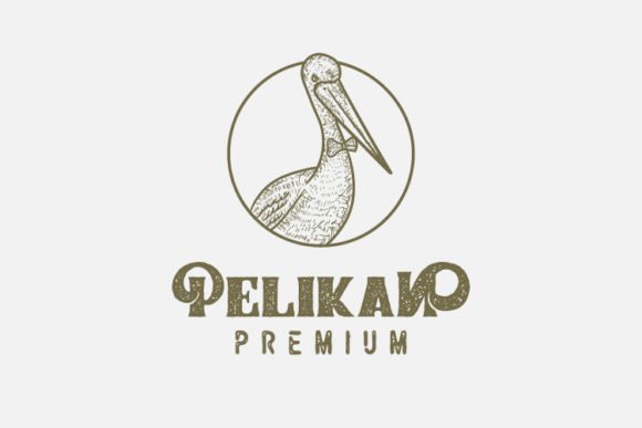 Pelikan Vintage Style Logo Template Graphic Logos By byemalkan