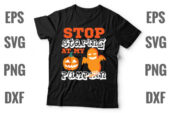 Print on Demand: Stop Staring at My Pumpkin Graphic Print Templates By Graphics Home.net