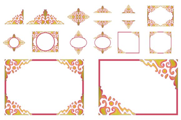 Print on Demand: Watercolor Ornament Frame Border Set Graphic Crafts By Arief Sapta Adjie