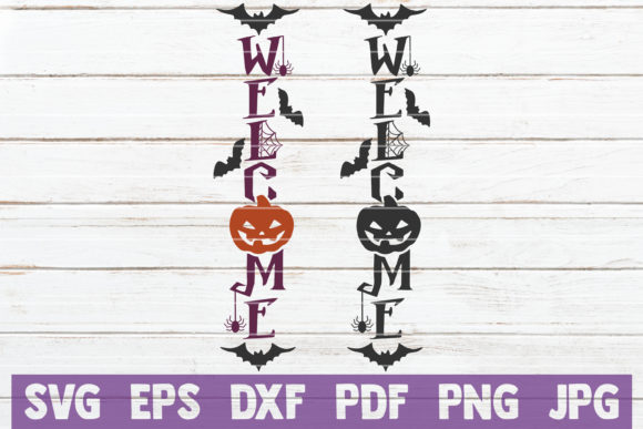 Welcome Halloween Graphic Crafts By MintyMarshmallows