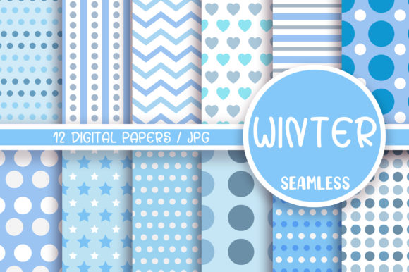 Winter Seamless Pattern Digital Papers Graphic Backgrounds By PinkPearly