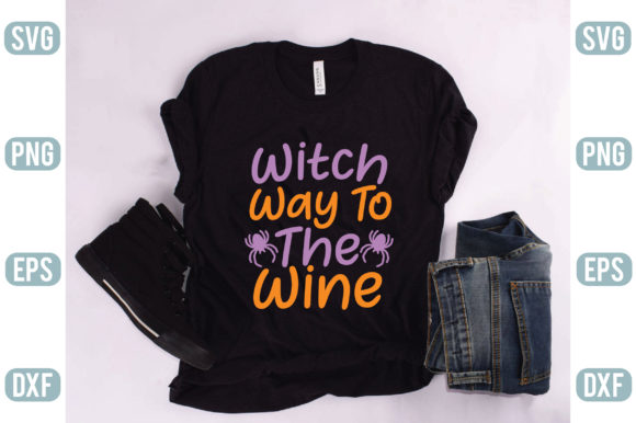 Witch Way to the Wine Graphic Crafts By creativejasim2