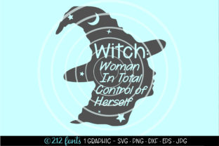 Print on Demand: Witch: Woman in Total Control of Herself Graphic Illustrations By 212 Fonts