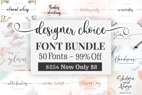 Print on Demand: Designer Choice - Font Bundle  von Sronstudio