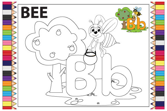 Print on Demand: Coloring the Letter a to Z for Children Graphic Coloring Pages & Books Kids By curutdesign