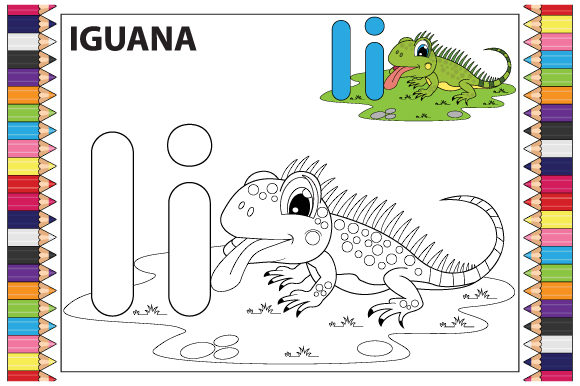 Coloring the Letter a to Z for Children Graphic Graphic