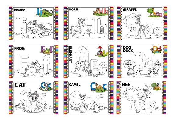 Coloring the Letter a to Z for Children Graphic Item