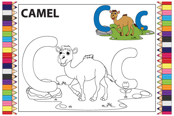 Coloring the Letter a to Z for Children Graphic Preview