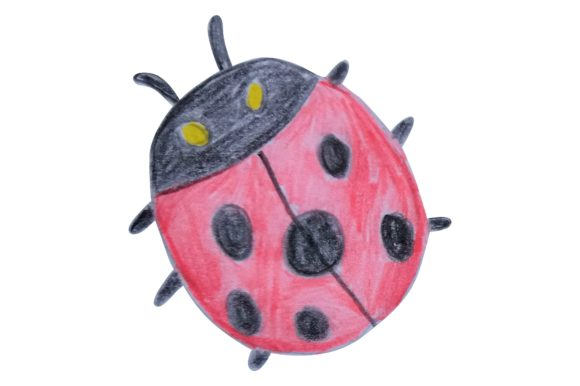 Print on Demand: Ladybugs Illustration with Watercolor Graphic Crafts By Arief Sapta Adjie