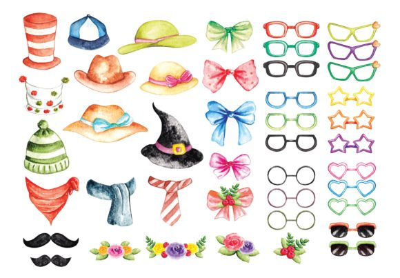 Set of Fashion Accessories Graphic Illustrations By Big Barn Doodles