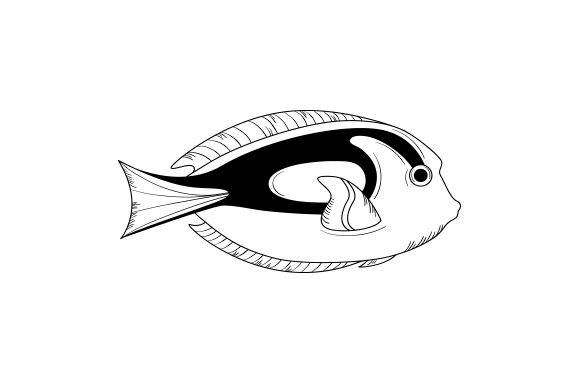 Blue Tang Fish Animals Craft Cut File By Creative Fabrica Crafts