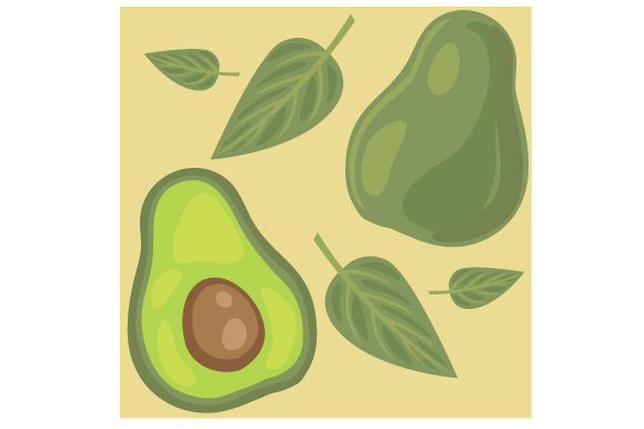 Seamless Avocado Background Food & Drinks Craft Cut File By Creative Fabrica Crafts