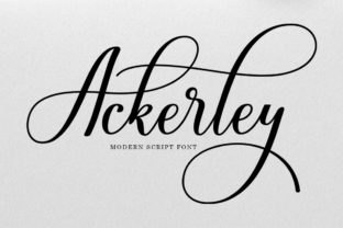 Print on Demand: Ackerley Script & Handwritten Font By Black Studio