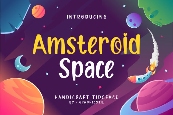 Print on Demand: Amsteroid Space Display Font By Graphicxell