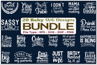 Baby Quotes Design Bundle Graphic Print Templates By creative_store