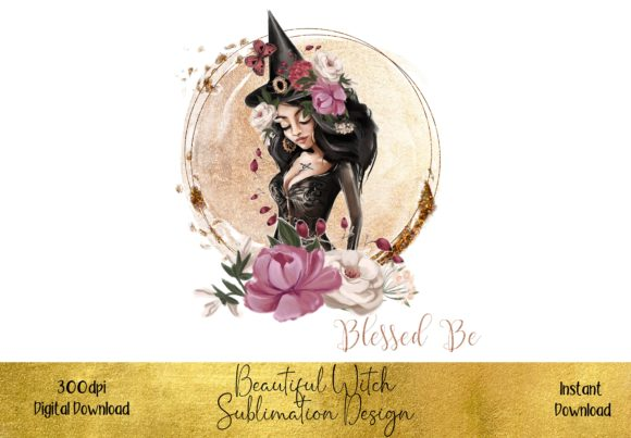 Beautiful Witch Design Graphic Illustrations By STBB