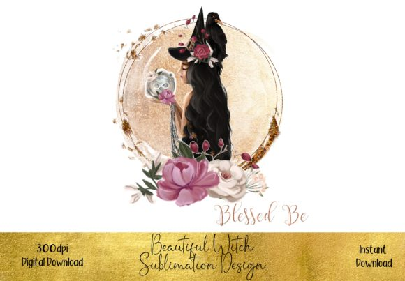 Beautiful Witch Halloween Design Graphic Illustrations By STBB