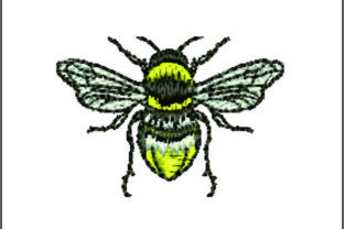 Print on Demand: Bee Detailed Bugs & Insects Embroidery Design By Samsul Huda