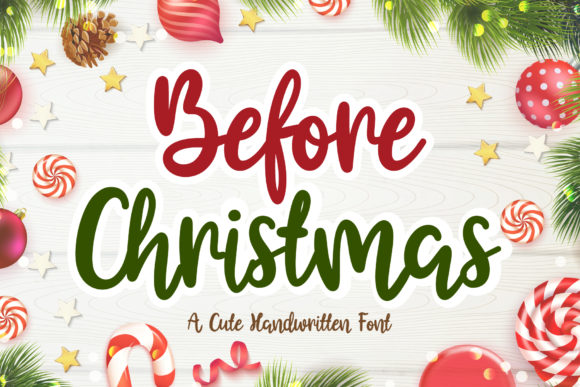 Print on Demand: Before Christmas Script & Handwritten Font By AquariiD