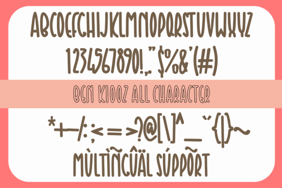 Ben Kidoz Font Popular Design