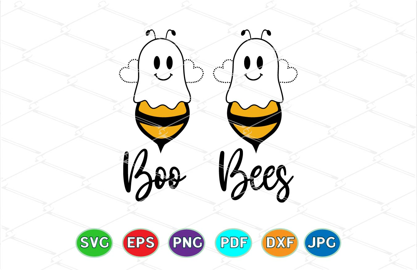 Boo Bees - Halloween - Ghost SVG File