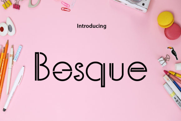 Print on Demand: Bosque Display Font By da_only_aan