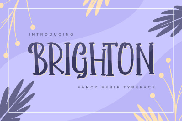 Print on Demand: Brighton Serif Font By Vunira