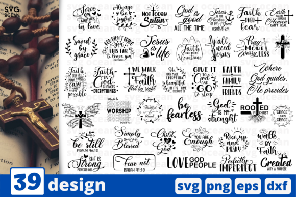Print on Demand: Christian Bible Quote Svg Bundle Graphic Crafts By SvgOcean