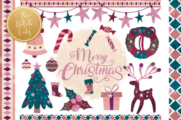 Print on Demand: Christmas Elements & Decorations Clipart Graphic Illustrations By daphnepopuliers